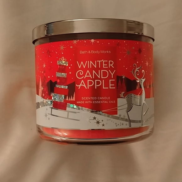 BBW Winter Candle Apple 3 wick candle
